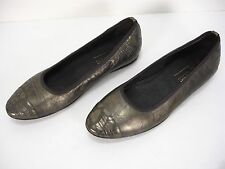 DONALD J PLINER HIDEYO BRONZE LEATHER BALLET FLATS SHOES WOMEN'S 6.5 M MINT