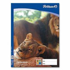 (0,60€/Blatt) Zeichenblock C2/10, 100g/m² A2 Pelikan 137604, 10 Blatt