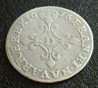 FRANCE - Monnaie de 4 sols des traitants argent type Louis XIV de 1646 D (Lyon)