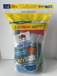 Fruit of the Loom Boys 10 Pack Boxer Briefs Size Large (14-16) Mesh Fly