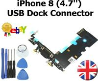 For iPhone 8 Charging Port Flex Dock Connector Replacement With Microphone BLACK