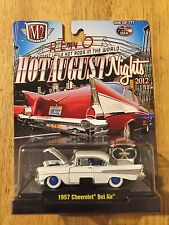 M2 Machines 1957 Chevy Bel Air 1of 777 Chase White with Blue Rims HAN 2012