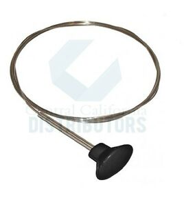 1956-1974 VW KARMANN GHIA DECK LID RELEASE CABLE W/ BLACK KNOB 141827531B