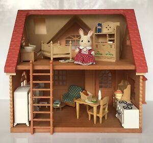 Sylvanian Families Copper Beech Cottage with Chocolate Rabbit and Accessories