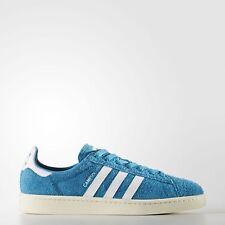 adidas Originals Campus Aqua Blue/White Suede Classic TRAINERS BZ0070, UK 7.5