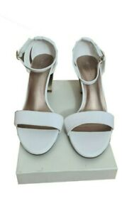 M&S Shoes Size 7.5 White Sandals NEW Bridal Xmas Party Evening Wedding