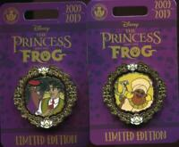 Princess and the Frog 10th Anniversary 2 Naveen Facilier LE Disney Pin 137451