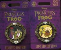 Princess and the Frog 10th Anniversary 2 Naveen Facilier LE Disney Pin 137451
