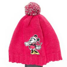 Disney Store Minnie Mouse Beanie Hat Toddler Red Knit Winter