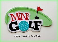 CRAFTECAFE MINDY MINI GOLF SPORTS premade paper piecing scrapbook title die cut