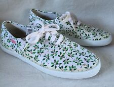 Pacific Express HOLLY LEAVES Womens Holiday Canvas Shoes size 7.5 Zippy