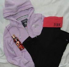 Womens Lot (4) VICTORIAS SECRET LOVE PINK Bling Yoga Pants, Hoodie & More Sz M