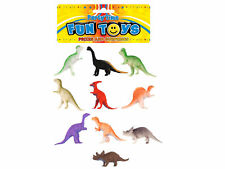 10 Plastic Dinosaurs - Pinata Toy Loot/Party Bag Fillers Wedding/Kids