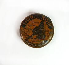 Boite Tole litho Cirage Lion Noir French Antique Tin Wax Lion Noir