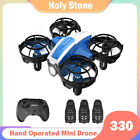 Holy Stone HS330 Hand Operated Mini Drone 3 batteries quadcopter helicopter Gift