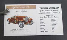CORNWELL APPLIANCES Albany NY Ink Blotter with 1932 Auburn