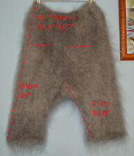 Pants leggings Cashmere Mohair Angora fluff 100% Goat down Fur Warm unisex