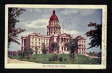 COLORADO STATE CAPITOL - 1906 Post Card S6