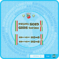Gios Torino - Bicycle Decals Transfers Stickers - Set 1