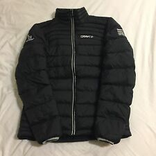 Men's Craft Team Novo Nordisk Pro Cycing Light Down Puffer Jacket, Black, S EUC