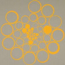 Architex Fibonacci Vouvray Gray & Yellow LARGE SCALE  MODERN  Upholstery Fabric