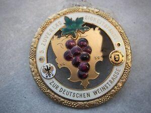 vintage german ADAC WINE RALLYE WINE ROUTE WEINSTRASSE 1959 BADGE - Gold Edition