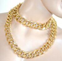 COLLANA LUNGA donna oro dorata catena anelli girocollo collier necklace A16