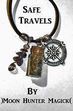 Safe Travels© Spell Protection Charm Necklace Magick Pagan Talisman Amulet