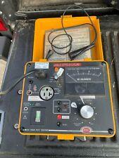 Biddle AC Hi-Pot Tester 230315 w/Cables - minor case crack