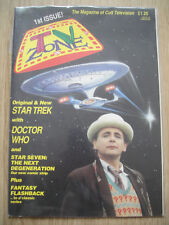TV ZONE #1 - 1989 – 1st ISSUE - DOCTOR WHO AT 30 + POSTER