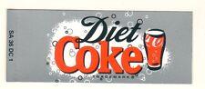 "Diet Coke Vending Machine Insert, Glass Logo, 1 3/8"" x 3 3/8"""