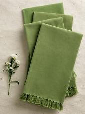 April Cornell Kitchen Napkins Set/4 NWT 100% Cotton Green
