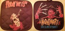 Nightmare On Elm Street OR Friday the 13th Potholder Freddy Jason Horror Kitchen