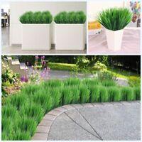 6PCS Artificial Fake Plastic Green Long Leaves Grass Plant Flowers Home Decor