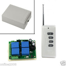 12V 10A 4CH Channels Wireless Switch Remote Control Receiver Transmitter 1000M