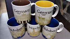 5 Starbucks CITY mugs Germany & Munich & Oktoberfest Global Icon Series 16oz