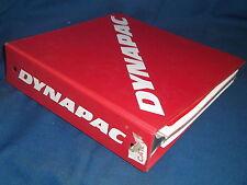 DYNAPAC CA-121D VIBRATORY COMPACTOR MAINTENACE OPERATIOJN & PARTS BOOK MANUAL
