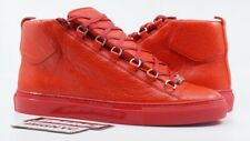BALENCIAGA ARENA HIGH NEW SIZE 42 ROUGE BRAISE RED HIGHTOP 341760WAD406530