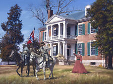 General Forrest at Carnton John Paul Strain Military L/E signed Civil War Print