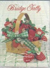 Strawberries Basket Bridge Tallies 2 Pack 8 Two Tables American Greetings Tally