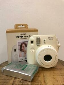 Fujifilm Instax Mini 8 Instant Film Camera - White/Cream with film pack