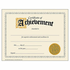 Certificates Of Achievement - Stationery - 30 Pieces