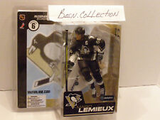 MCFARLANE NHL 6 MARIO LEMIEUX BLACK PITTSBURG PENGUINS JERSEY WITH ERROR LOGO