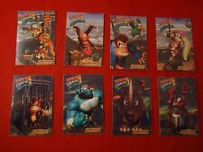 Donkey Kong Country 2 Super Nintendo SNES 8 Trading Cards Diddy Dixie Rambi