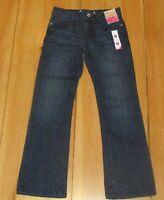 NEW Gymboree Girls Jeans Bootcut Boot Cut Blue Denim Bling Adj Waist Size 8 Reg