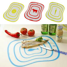 Fruit Vegetable Cutting Chopping Board Mat Kitchen Tool Flexible Plastic Useful