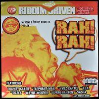 """RIDDIM DRIVEN """"RAH! RAH!"""" 2004 2X LP COMPILATION BURRO BANTON, KING KONG SEALED!"""