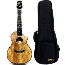 High quality 24'' concert cutaway all solid mango wood ukulele with Gig Bag