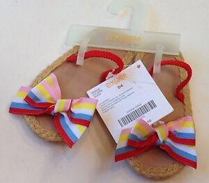 NWT Gymboree Cote D'Azure Size 04 for 6-12 Months Ribbon Crib Espadrille Sandals
