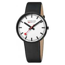 Mondaine Men's A660.30328.61SBB SBB Giant Black and White 42mm Black IP Watch